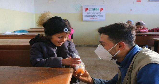 Sevgi Öğünü Projesi, Suriyeli öğrencilerin yüzlerini güldürüyor
