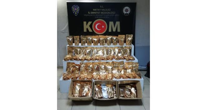 Hatay'da 100 kilo kaçak nargile tütünü ele geçirildi