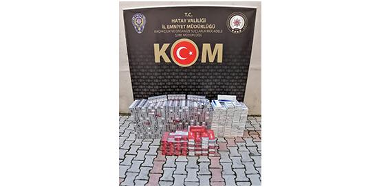 Kırıkhan'da 3200 paket kaçak sigara yakalandı