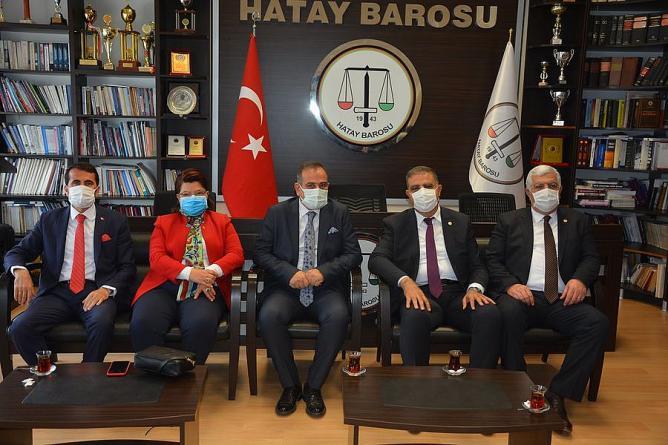 CHP'li Vekillerden Hatay Barosuna Ziyaret