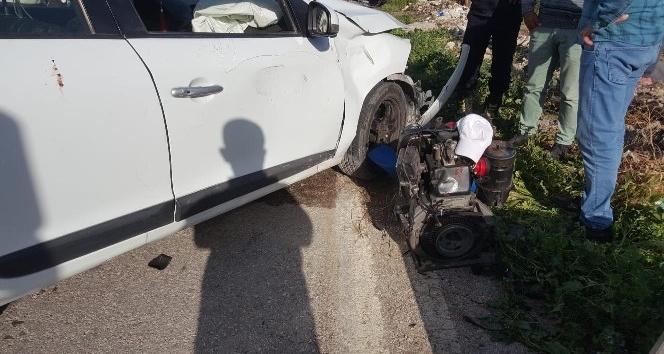 Pat pat ile otomobil çarpıştı: 1 yaralı