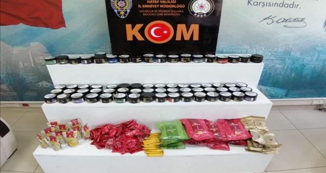 40 kilogram kaçak nargile tütünü ele geçirildi