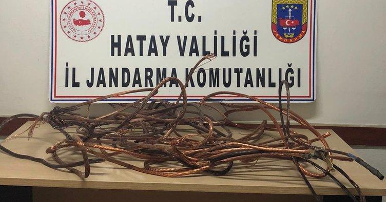Hassa'da Bakır Kablo Hırsızı Yakalandı