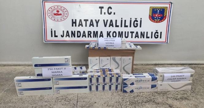 542 paket kaçak sigara operasyonu