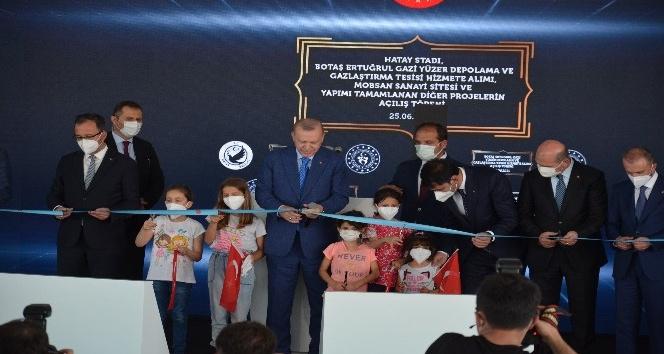Cumhurbaşkanı Erdoğan Hatay'da dev projeleri hizmete açtı