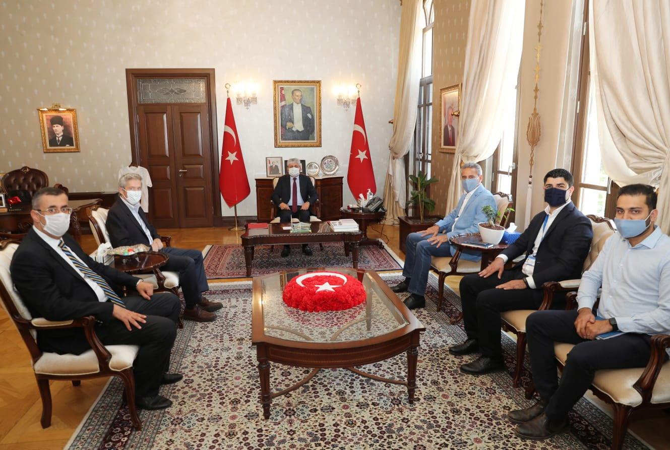 Vali Doğan BM Suriye Krizi Bölgesel İnsani Yardım Koordinatörü Muhannad Hadi'yi kabul etti