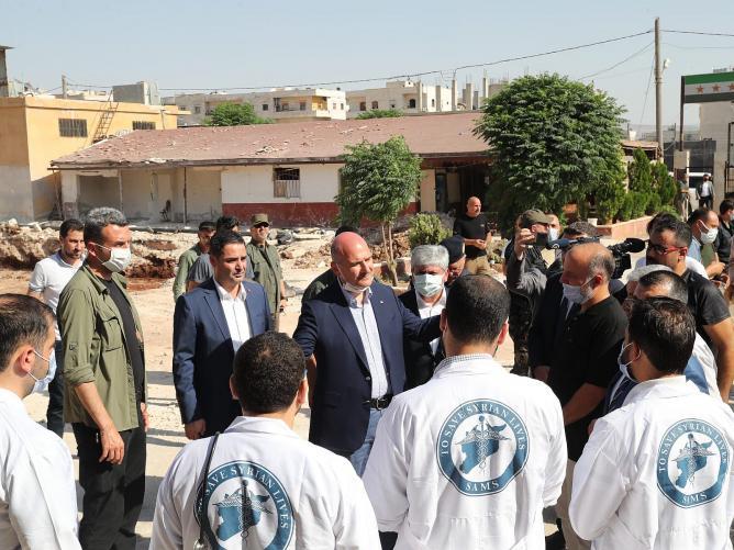 Vali Doğan, Bakan Soylu ile Afrin ve Azez'de