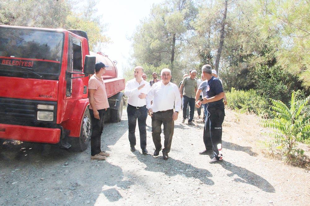 """Türkoğlu """"Suyun zehirli olduğu iddiası  Asılsızdır"""