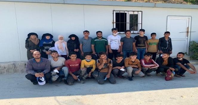 Belen'de 21 kaçak göçmen yakalandı