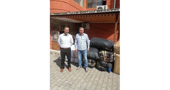 Dörtyol ve Payas'ta öğrencilere çanta ve kıyafet yardımı