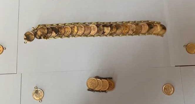 Eksik gramajlı çeyrek ve tam altın ele geçirildi