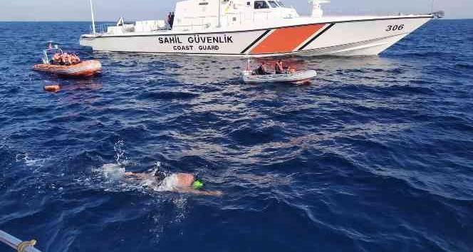 İskenderun körfezinde açık deniz yüzme maratonu tamamlandı